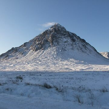snow covered Buachaille Etive Mor  (1066 ) , the Highlands , Scotland by goldyart