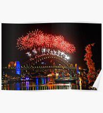 Sydney New Years Eve Fireworks 2009 - 2010 Sydney Harbour Bridge Poster