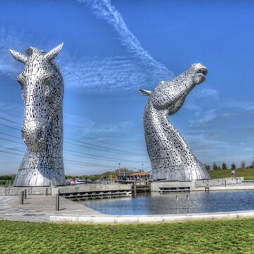 The Kelpies sculptures  by goldyart