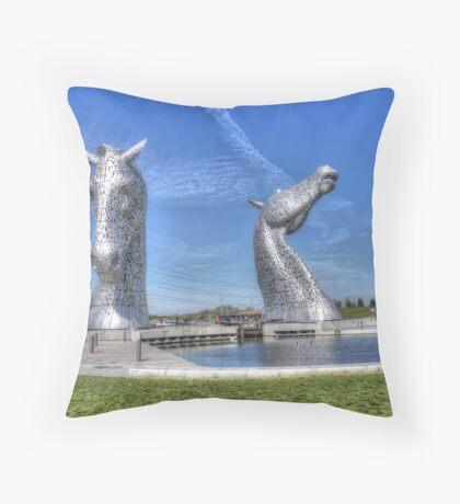 The Kelpies sculptures  Throw Pillow