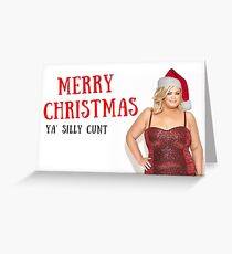 Gemma Collins, Towie, Christmas card, Xmas card, Quote, Gifts, Presents, Good vibes only, Bad Santa, Sticker packs, Meme greeting cards Greeting Card