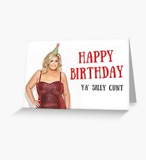 Gemma Collins, Towie, Birthday card, Quote, Gifts, Presents, Sticker packs, Good vibes only, Banter, Meme greeting cards, Puns Greeting Card
