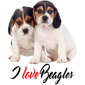 I Love Beagles Beagle Puppies Photo by CafePretzel