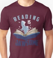Reading Is Jawsome Art | Cool I'm A Passionate Reader Gift Slim Fit T-Shirt