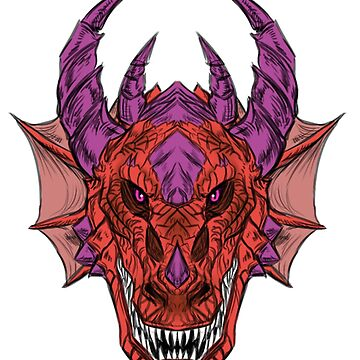 Red dragon head by Furiarossa