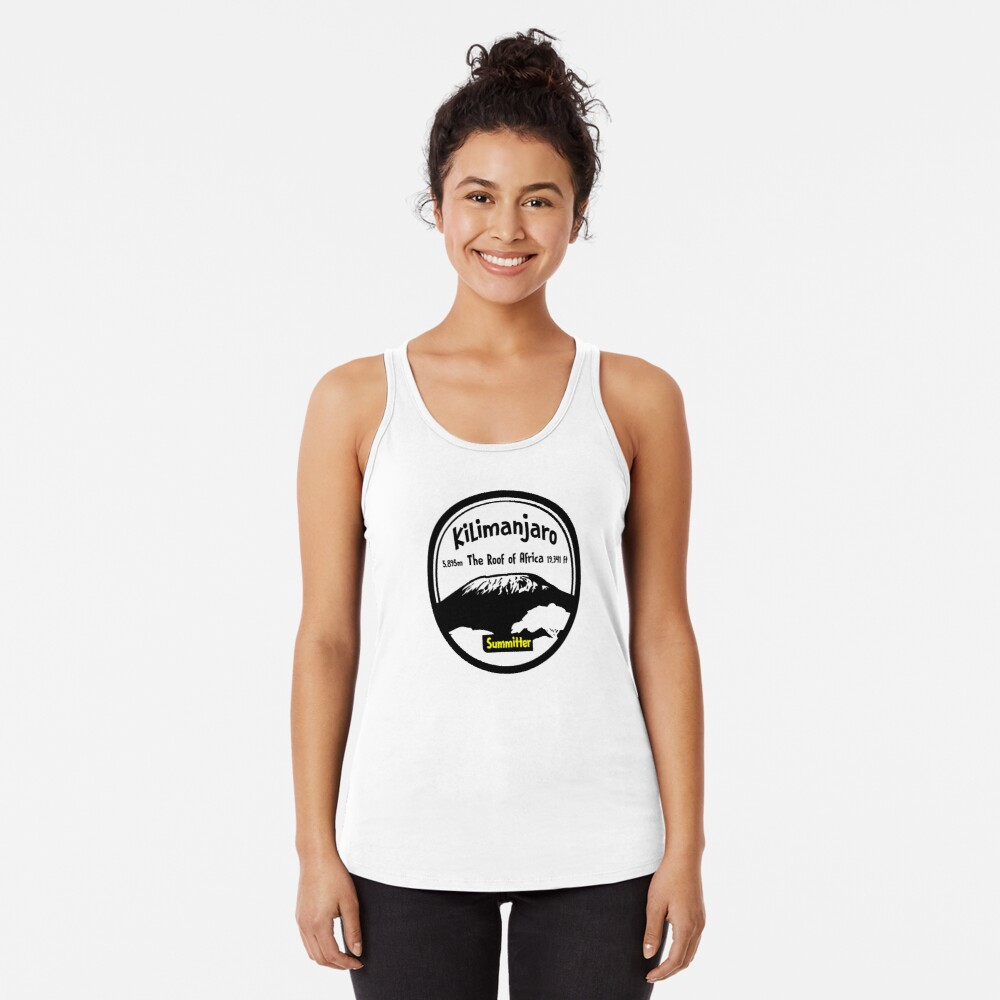 Kilimanjaro Summitter - The Roof of Africa Racerback Tank Top
