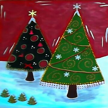 Childrens Naive Christmas Tree Design by taiche