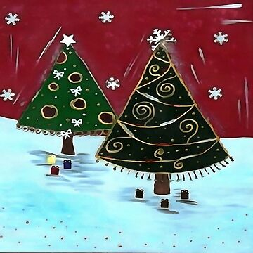 Childrens Primitive Christmas Tree Design by taiche