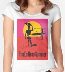 Endless Summer, 1966 Surf Sport Documentary Poster, Artwork, Drucke, Poster, T-Shirts, Männer, Frauen, Kinder Tailliertes Rundhals-Shirt