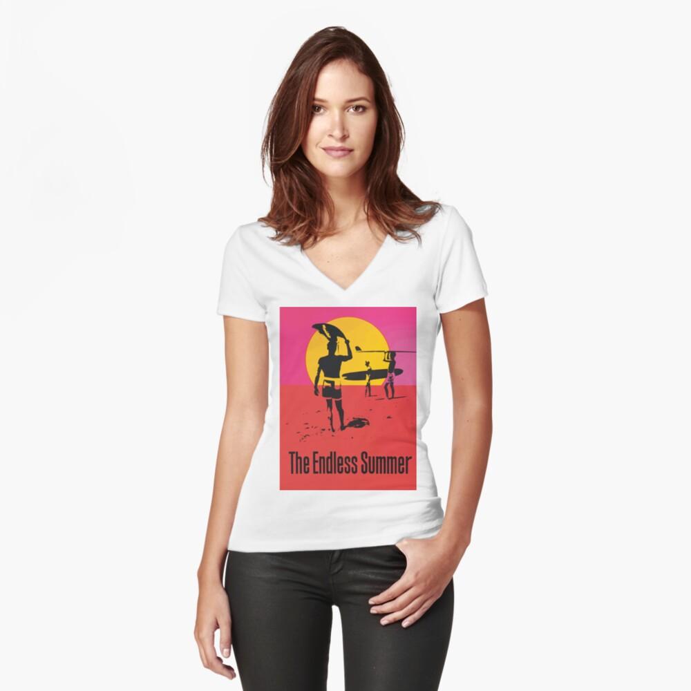 Endless Summer, 1966 Surf Sport Documentary Poster, Artwork, Prints, Posters, Tshirts, Men, Women, Kids Fitted V-Neck T-Shirt