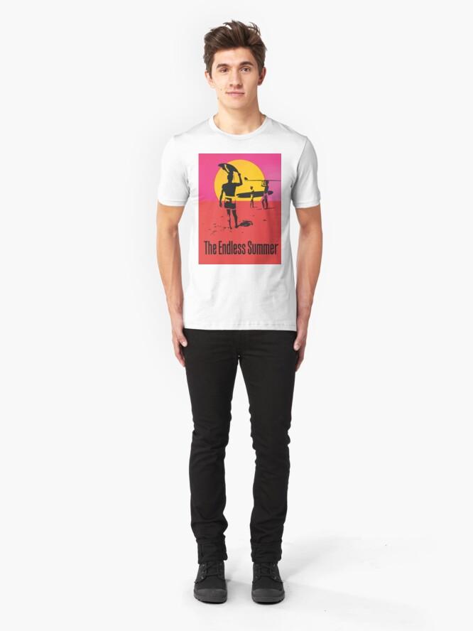 Alternate view of Endless Summer, 1966 Surf Sport Documentary Poster, Artwork, Prints, Posters, Tshirts, Men, Women, Kids Slim Fit T-Shirt
