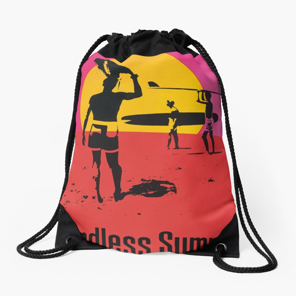 Endless Summer, 1966 Surf Sport Documentary Poster, Artwork, Prints, Posters, Tshirts, Men, Women, Kids Drawstring Bag