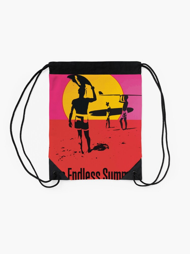 Alternate view of Endless Summer, 1966 Surf Sport Documentary Poster, Artwork, Prints, Posters, Tshirts, Men, Women, Kids Drawstring Bag