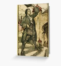 Gulliver's Travels by Jonathan Swift art Arthur Rackham 1899 0053 The Emperor of Lilliput Reviews His troops Greeting Card