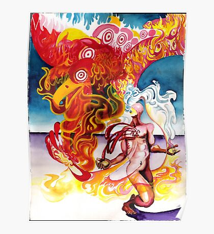 A Twig Burning in the Flames of Life Poster