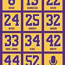 Los Angeles Basketball Retired Numbers by pkfortyseven