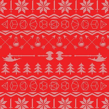 D&D Christmas Pattern by katecrashed