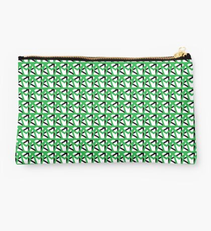 Pattern One in Green Studio Pouch