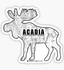 Acadia National Park Topographic Moose Sticker