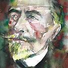 JOSEPH CONRAD - watercolor portrait.2 by lautir