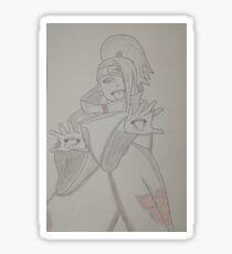 Drawing pencil deidara akatsuki Sticker