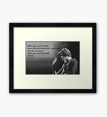 John Mayer, Quotes, Gifts, Presents, Why says lyrics, Music, Occupations, Colors, Culture, Pop Culture Framed Print