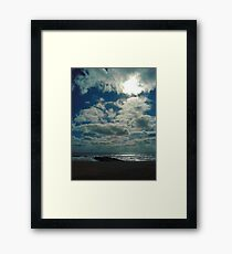 Morning on the Beach Ocean Grove New Jersey Framed Print