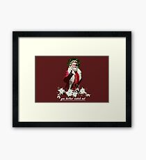 escape from christmas  Framed Print