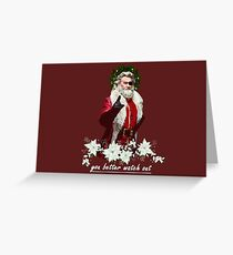 escape from christmas  Greeting Card