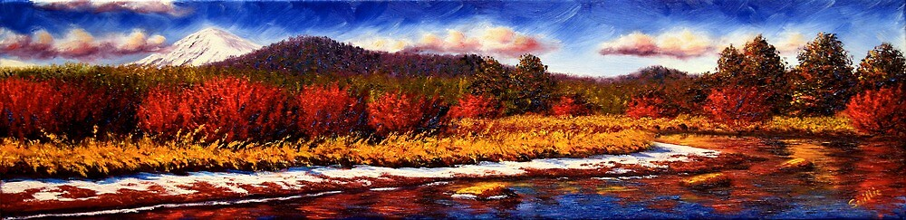 Sunriver Snow on the Riverbanks by sesillie