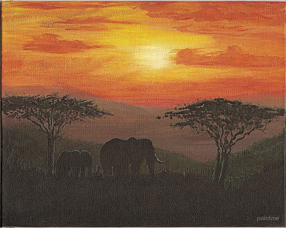 African Elephant by paintme