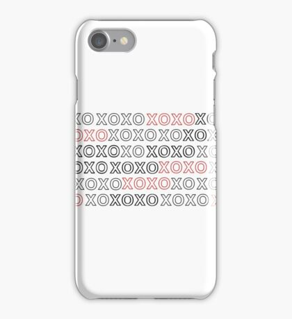 XOXO w/ Red iPhone Case/Skin