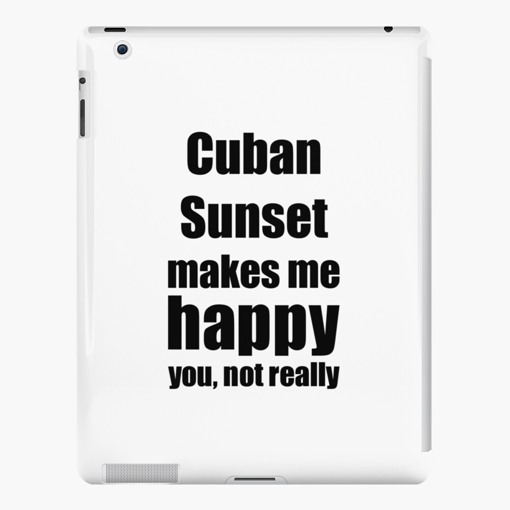 Cuban Sunset Cocktail Lover Funny Gift for Friend Alcohol Mixed Drink Funda y vinilo para iPad