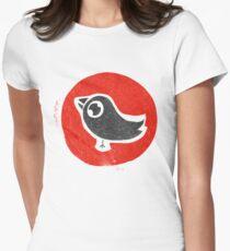 bird print T Women's Fitted T-Shirt