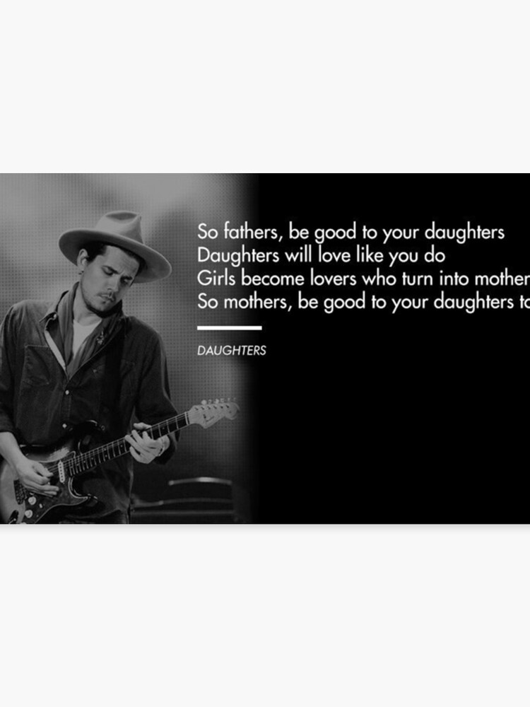 John Mayer, Quotes, Gifts, Presents, Daughters, Lyrics, Music, Occupations,  Colors, Culture, Pop Culture | Canvas Print