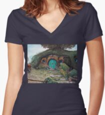 Bag End Women's Fitted V-Neck T-Shirt