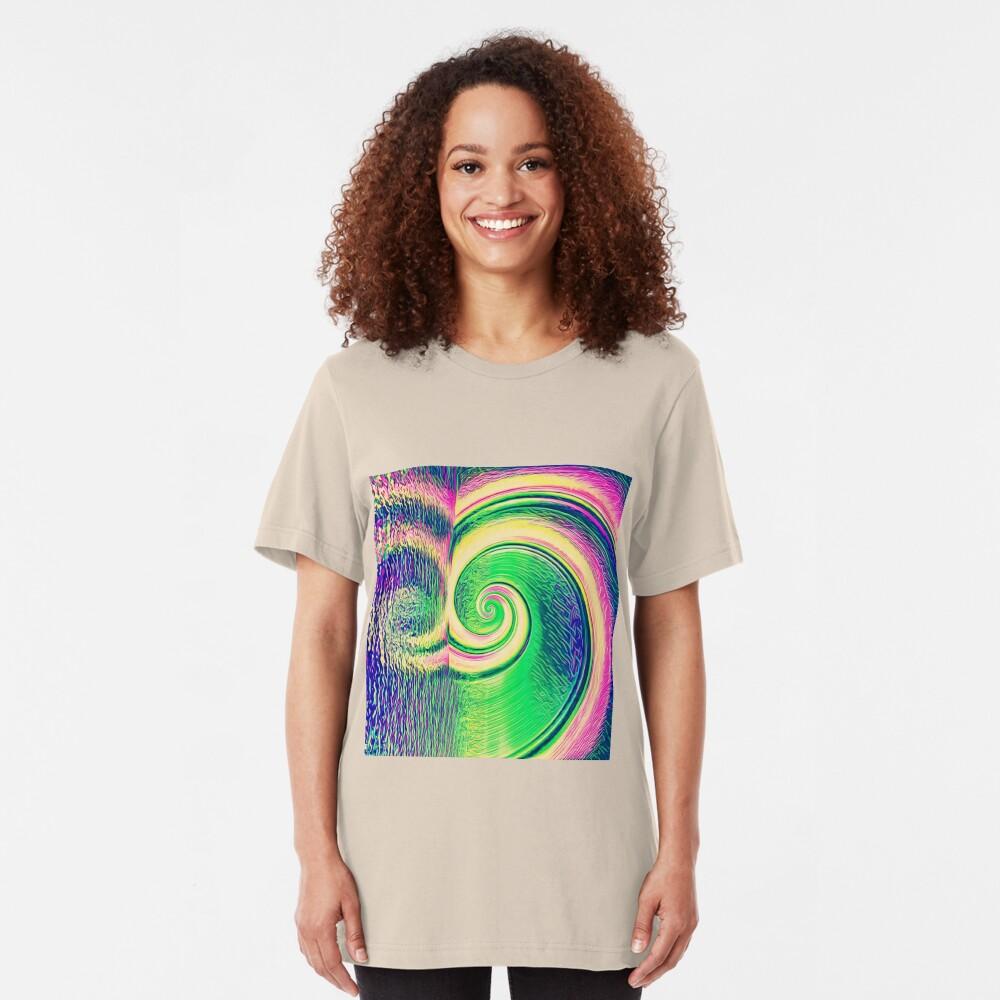 Fibonacci abstract reflections Slim Fit T-Shirt