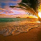 Lanikai beach at sunrise by printscapes