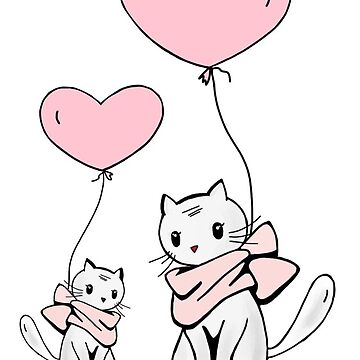 Balloon Cats by Nangka