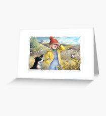 Little Bo Peep - A welsh take on the children's rhyme Greeting Card