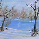 woods in snow by AnneK