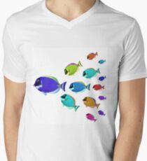 School of colorful fish  Mens V-Neck T-Shirt