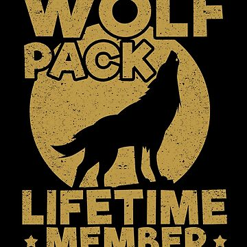 Wolf Pack Lifetime Member Family Group Animal by kieranight