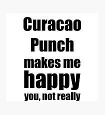 Curacao Punch Cocktail Lover Funny Gift for Friend Alcohol Mixed Drink Photographic Print