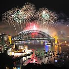Let There Be Light #1- Sydney New Years Eve ,Australia by Philip Johnson