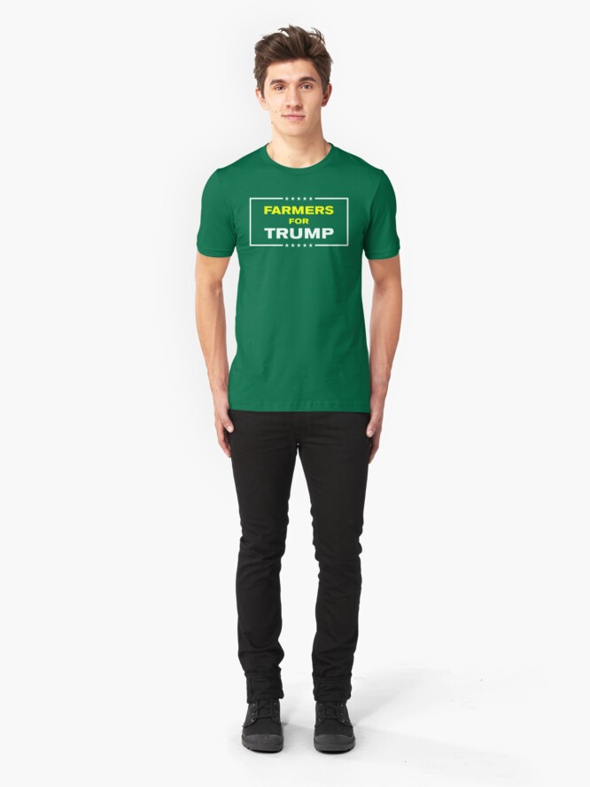 Alternate view of Farmers for Trump Slim Fit T-Shirt