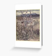 Irish Fairy Tales by James Stephans art by Arthur Rackham 1920 0137 They Went Hand In Hand Greeting Card
