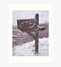 Snowplow Delivery Art Print