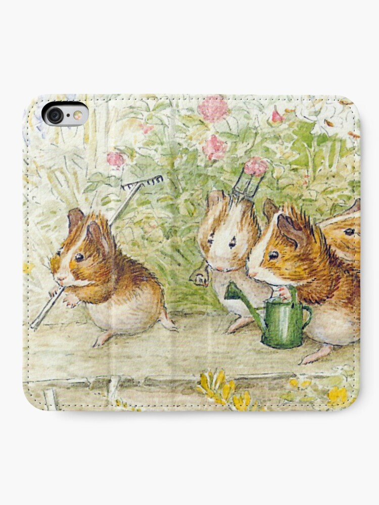 Alternate view of Guinea Pig Gardeners - Beatrix Potter iPhone Wallet