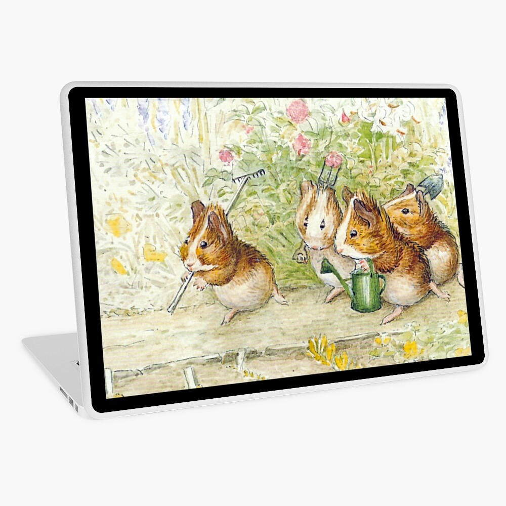 Guinea Pig Gardeners - Beatrix Potter Laptop Skin